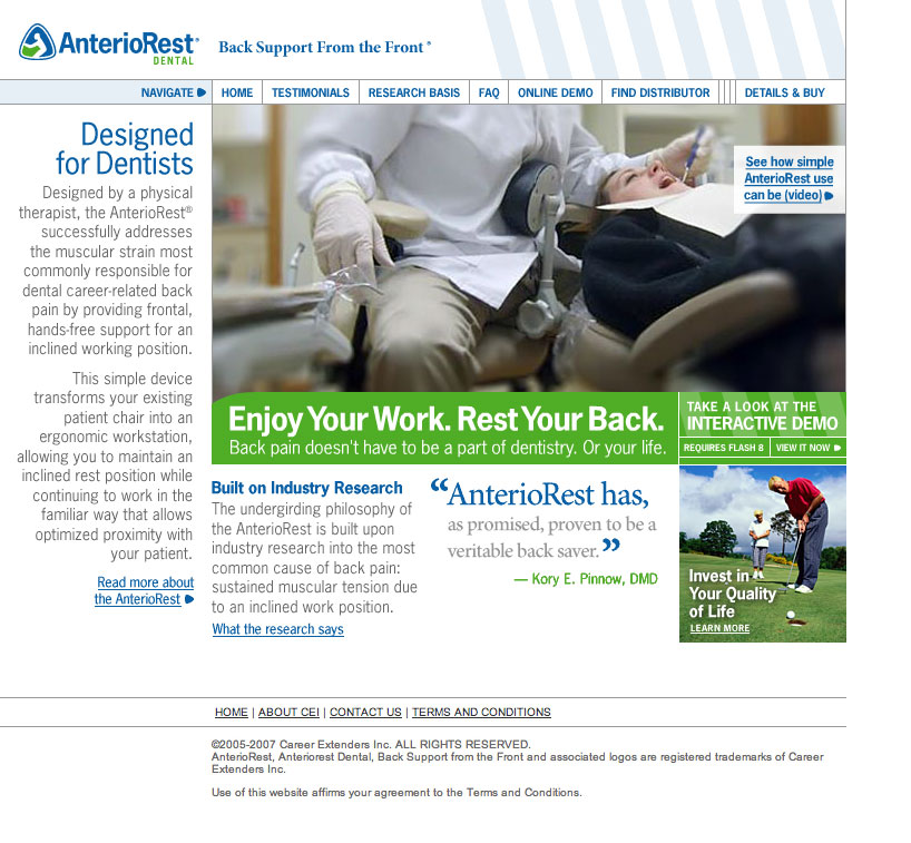 AnterioRest Dental Website