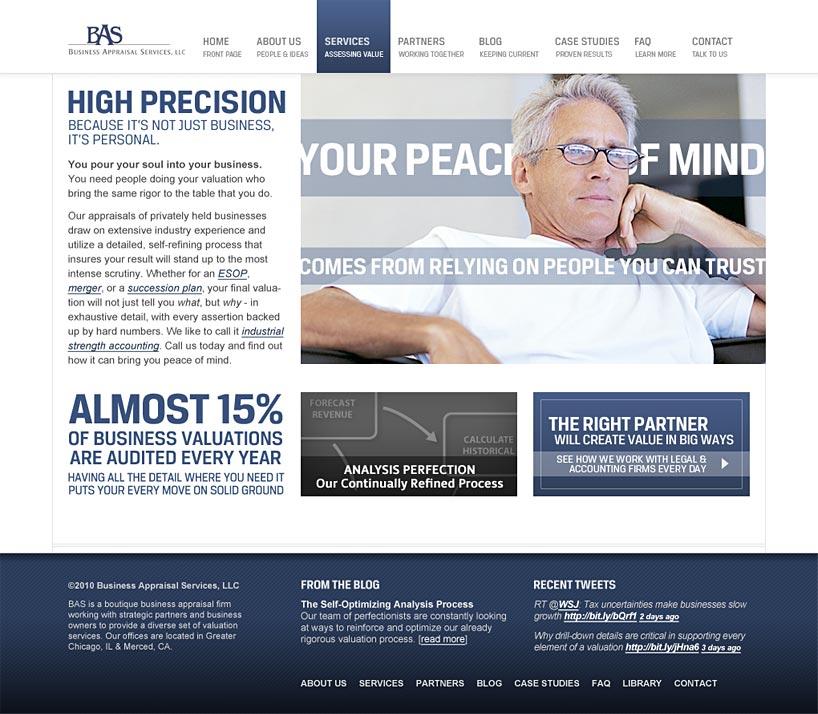 Business Appraisal Services Website
