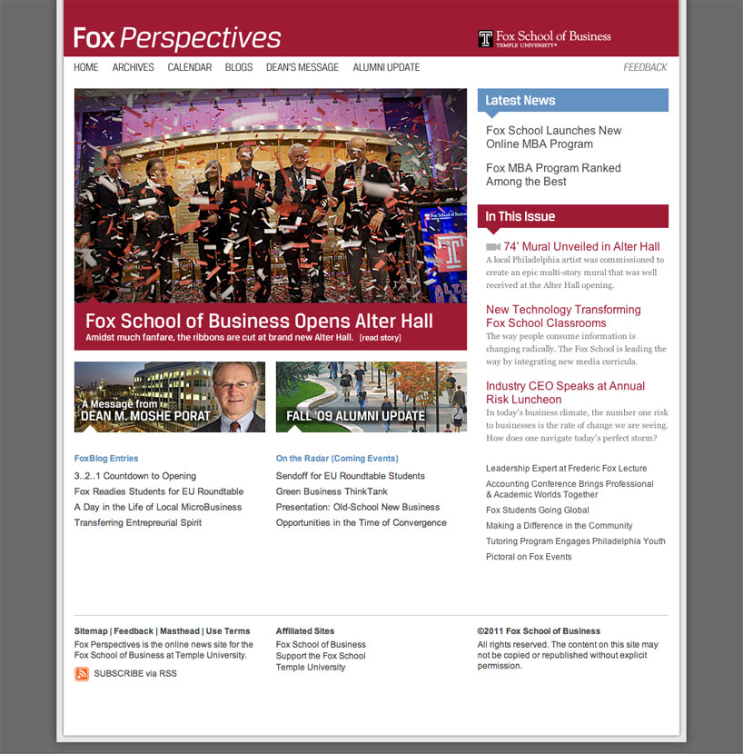 Fox School of Business Website