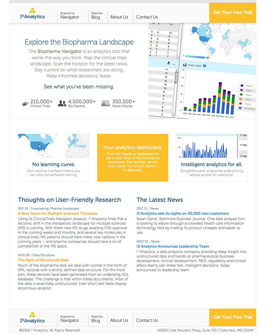 I3 Analytics Biopharma Navigator Site