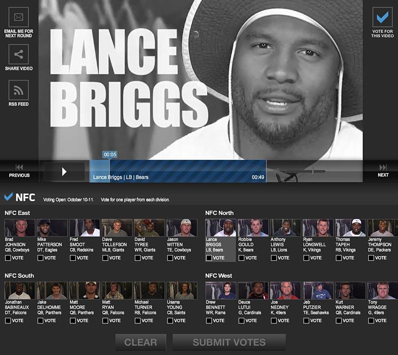 NFL Big Game Video Voting