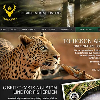 Tohickon Glass Eyes Website